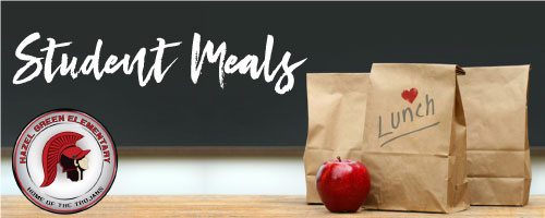 Hazel Green Elementary student meal graphic