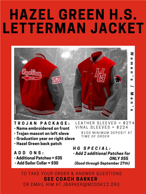 Letterman Jacket Information