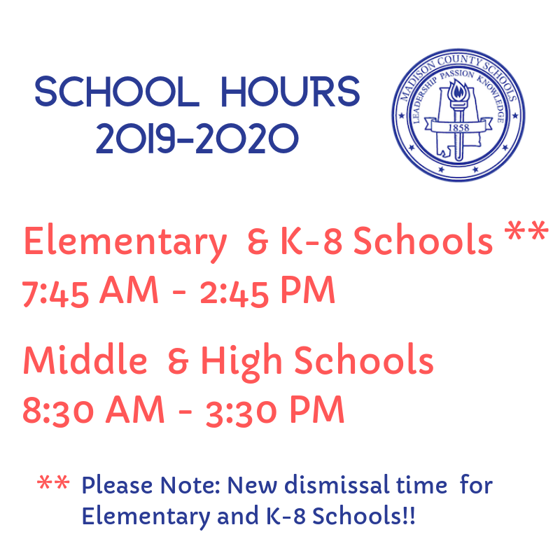 back to school hours graphic