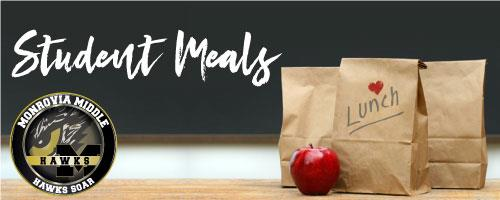 Monrovia Middle student meals graphic