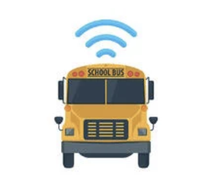 image of school bus with wifi icon