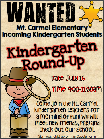 infographic about Kindergarten Roundup