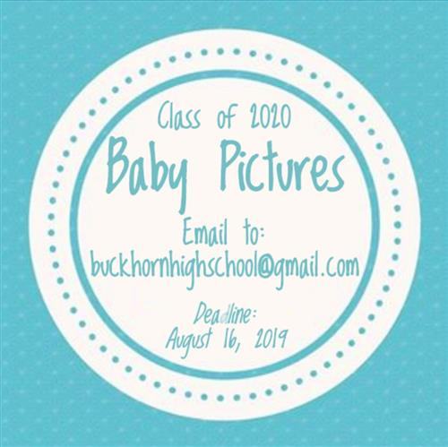 infographic about class of 2020 baby photo submissions